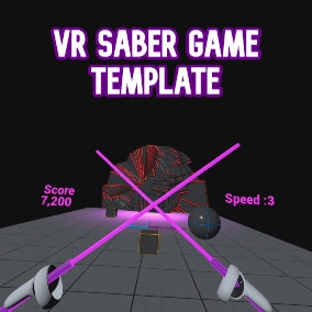 In this pack you will find a template for a dynamic saber game.