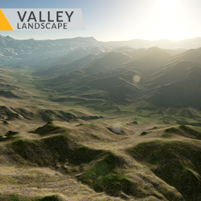 This content includes highly detailed 16 km2 (4x4 km) Valley landscape.