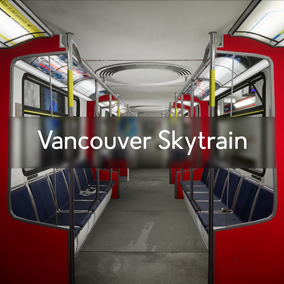 Fully customizable set of assets for creating a modular 1:1 scale Vancouver Skytrain Environment