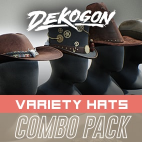A collection of hats that can be used for games!