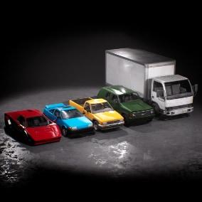 Drivable Sports Car, Hatchback, Pickup, SUV & Box Truck