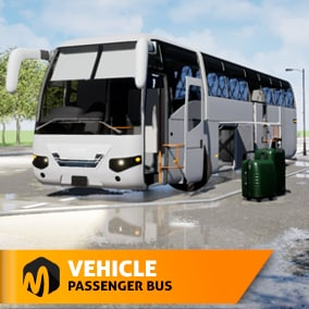 We present you a model of a passenger bus, all parts are movable. A modular road will allow you to assemble your route. There is also an imitation of rain. It is well suited for driving simulators, training, as well as VR projects.