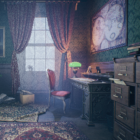 "The ""Victorian House (Only Cabinet)"" - About 450 high quality assets for your game."