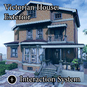 "The ""Victorian House (Only Exterior)"" - Full Modularity. About 650 high quality assets for your game."