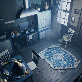 "The ""Victorian House (Only Kitchen)"" - About 550 high quality assets for your game."
