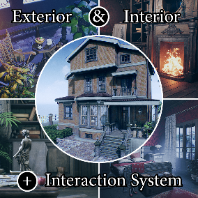 "The ""Victorian House"" - Ready game level. About 1900 high quality assets for your game."