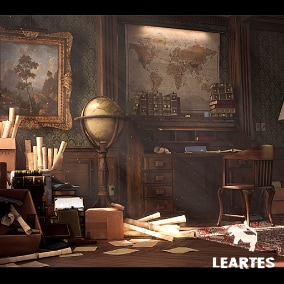 Victorian Interior Environment with 78 Assets