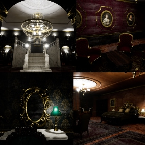 Victorian Mansion Interiors is a complete package for helping you to make a horror and mystery mansion.