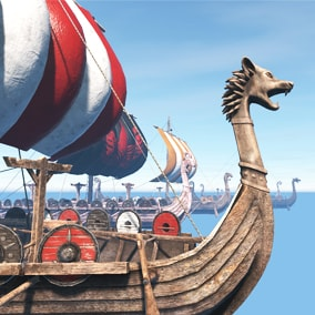 These viking ship models are for games and other projects.
