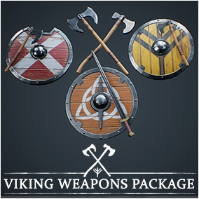 25 iconics Viking Weapons, ready to use in your project. Ideal for battle projects.