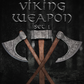 Pack contains 10 Viking carved weapons.