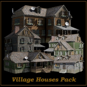 Village Houses Pack includes essential meshes of sub-urban living & environment, thoroughly crafted and optimized to offer the best quality with more than satisfying performance.