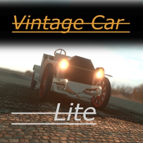 Fully customizable and drivable vintage car ready to use in your project