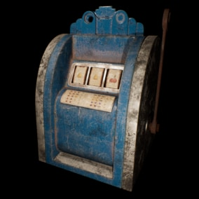 A fully functional physics-based three reel vintage slot poker machine made entirely with blueprints.