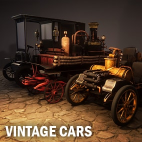 Here are three vintage cars which already have move animations.