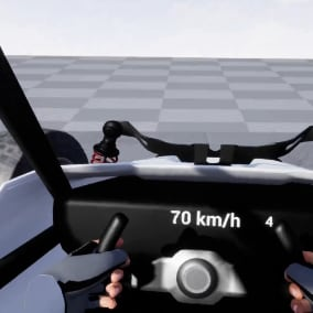 A vehicle you can drive in virtual reality.