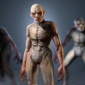 3D model of Vurdalak. Rigged to Epic Skeleton.