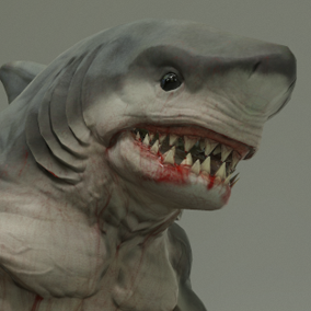 ***Included Inside Heroic Fantasy Were Creatures Pack Volume 2*** Here is the wereshark. This dangerous hybrid is the perfect fit for heroic fantasy projects that need to populate a marine or oceanic environment.