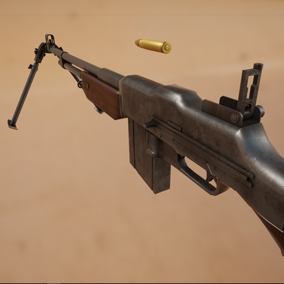 It is the M1918A2 gun used in World War II.