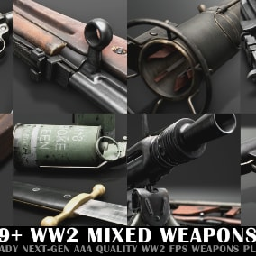 WW2 Mixed Weapon Pack B