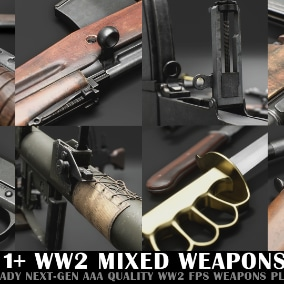 WW2 Mixed Weapon Pack C