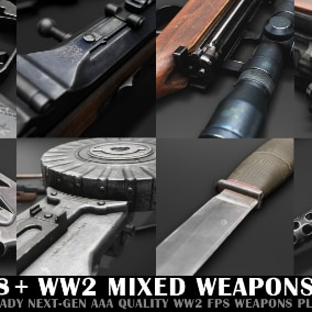 WW2 Mixed Weapon Pack D