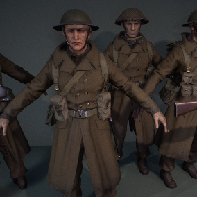 WWII British Infantry, Dynamic cloth
