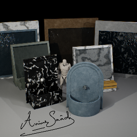 A collection of Wall Fountains ready to be used inside your game, interior, or VR project, 5 Meshes with LOD's and custom collision plus Particle System for Tap