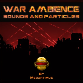 War Background Ambient Sounds and Particles Pack for your Shooter, RPG, RTS game, or any other project.