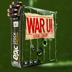 A new MLG game library enters the playing field. Welcome in War UI. War UI sound effects collection brings game developers and sound designers a versatile and wide ranging catalog of user interface style sounds.