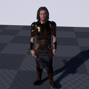 The pack includes: armor set of 6 items, underwear 2 pieces, axe, 1 character, 1 types of hair, morph face. The package contains materials with textures (PBR).