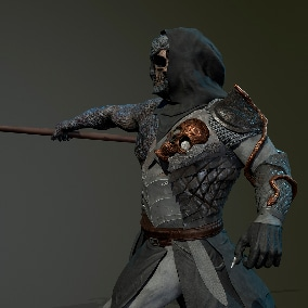 Game-ready Low-poly model of the character WarriorOggy.  You can use it in different game genres.
