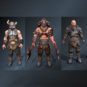 Collection of 3 warrior characters
