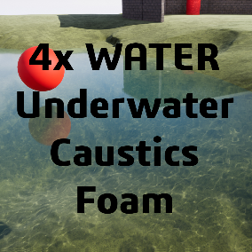 Plug&Play BP pack that contains 4 different types of water, Caustics, Underwater and Foam system.
