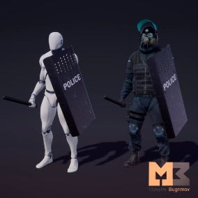 A small set of images for your shield characters.