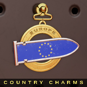 The pack contains 20 customizable Charms to use for your weapons customization. Each charm represent a country of G20.