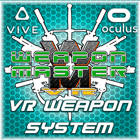 Weapon Master VR is a comprehensive weapon, pickup, and locomotion Blueprint system for the HTC Vive and Oculus Rift.