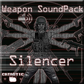 Weapon sound pack Silencer - Collection of 24 weapons suppressed sounds pack