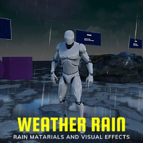 Weather Advanced Rain is a fully functional set of rain related visual effects and materials.
