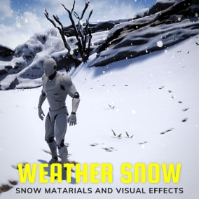 Weather Advanced Snow is a fully functional set of snow related visual effects and materials