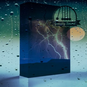 A collection of 30 loop able weather sounds like rain and thunder.
