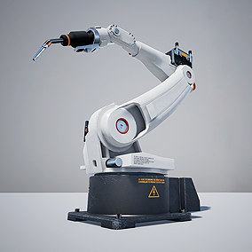 Blueprint asset for simulate industrial style welder robot