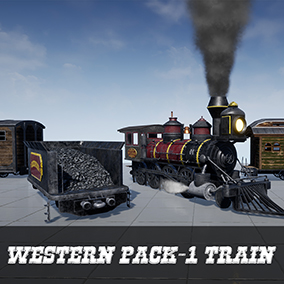 You will have a western style realistic train in this product, which is the first of the western packages.