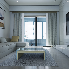 This is an architectural visualization called WhiteApartments in Asia.