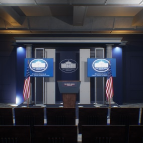 Modular White House Press Room Package