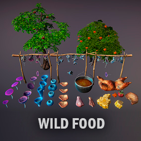 Huge package of high quality wild food models.