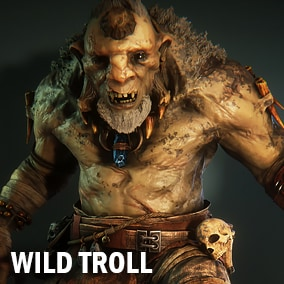 Here is highly detailed wild troll model with full PBR 8k textures set, and a lot of different animations.