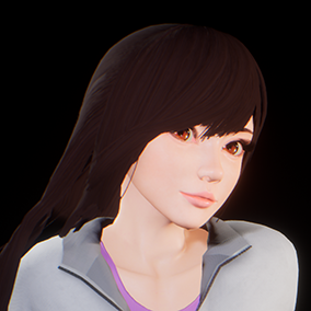 This is semi-realistic cute girl character.