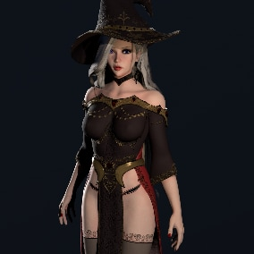 3D Character - Witch Girl.