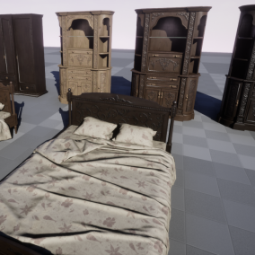 This package contains 25 Blueprint compatible furniture models.